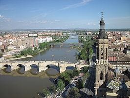 Vista de la ciudad de Zaragoza. Imagen: http://es.wikipedia.org