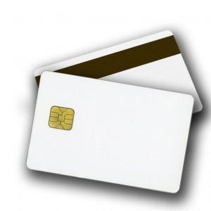 Tarjeta de banda magnética y de chip (smartcard, tarjeta inteligente). Imagen: http://www.calearo.com