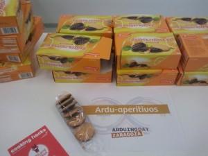 ¡¡¡Galletas!!! Había galletas gratis para los asistentes, cortesía de Cooking Hacks.